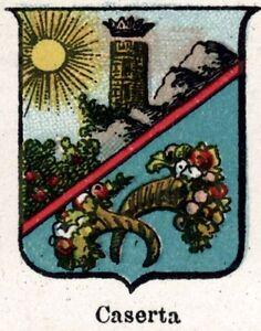 Caserta-Small-Crest-1901-Chromolithography-Print-Ancient-mat