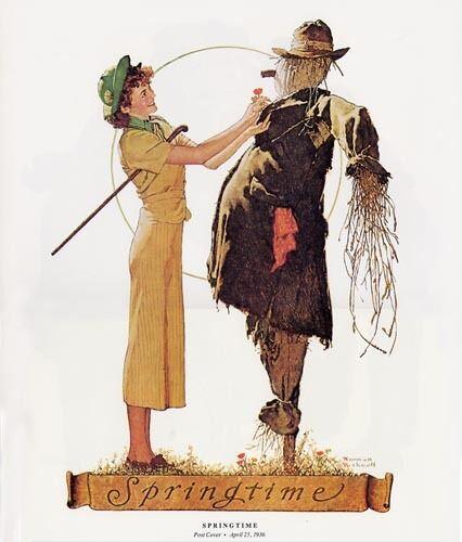 Norman Rockwell Scarecrow Print SPRINGTIME 1936