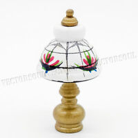 1:12 Wooden Table Lamp Dollhouse Lighting Miniature Lovely Furniture Decor Toys