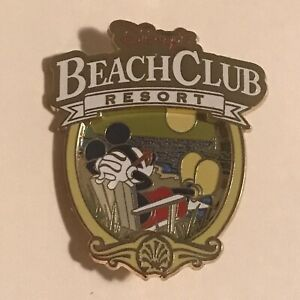 Disney-039-s-Beach-Club-Resort-Logo-Mickey-Mouse-Relaxing-Disney-Pin-88776