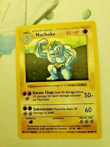 Shadowless Machoke Non-Holo Pokemon Card 34//102 Base Set Top Loaded PLY-NM