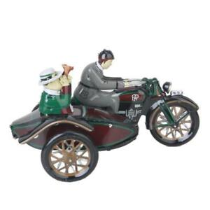 Vintage-Wind-Up-Parade-Motorcycle-Sidecar-Clockwork-Tin-Collectable-Decoration