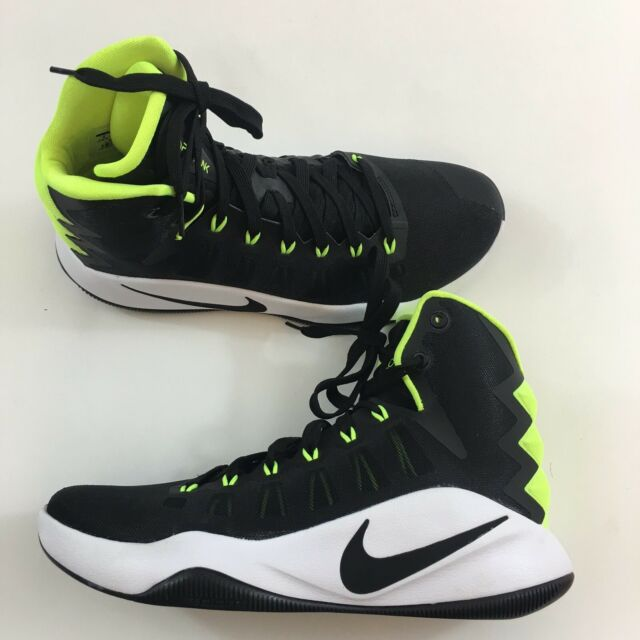 New Nike 2016 Hyperdunk Mens Size 8 Black Volt Green Athletic Basketball Shoes