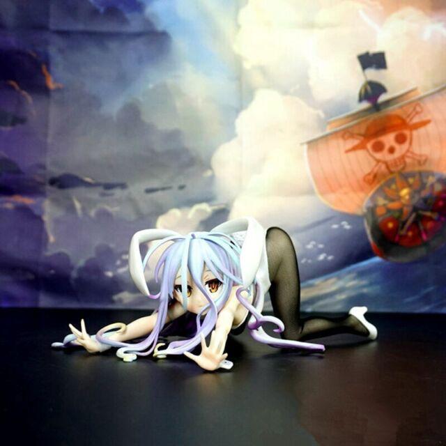 Anime NO GAME NO LIFE Bunny Girl Shiro 1/4 PVC Figure Toys