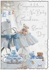 Petite fille ou fils nouveau bébé Naissance Carte De Vœux Garçon Grands-parents