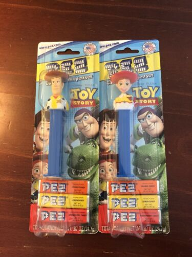 PEZ Candy Dispenser Disney Toy Story Jessie & Woody NEW Unopened Dispenser
