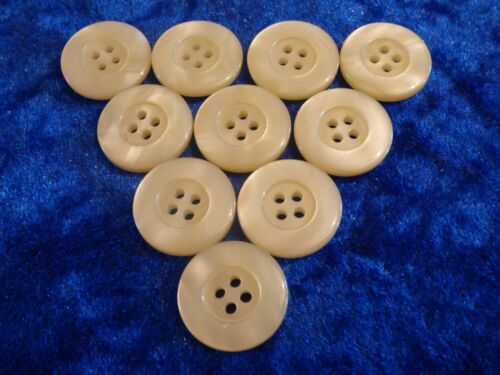 20mm 32L Lemon Yellow 4 Hole Pearlescent Polished Quality Buttons x 10 Cardigan