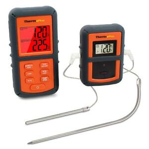 Funk-Grillthermometer Set mit 2 Temperaturfühlern für BBQ, Ofen und Grills.