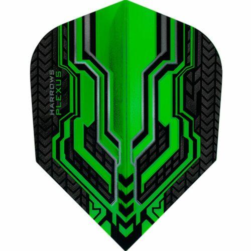 Harrows Plexus Dart Flights 100 Micron Standard Green 1 Pack of 3 Flights