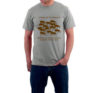 Herds-of-Wildebeest-Sweeping-Majestically-Across-the-Plain-T-shirt-by-Sillytees