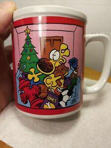 Vintage-1990-Mother-Goose-and-Grimm-Coffee-Mug-Tea-Cup-Christmas-Grimm-Enesco