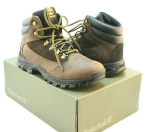 TIMBERLAND Rangeley Size 11 M Brown Full Grain Mens Mid Hiker Boots MSRP $120