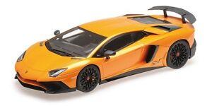 Kyosho 1 18 Lamborghini Aventator Sv In Orange With Black Wheels Ebay