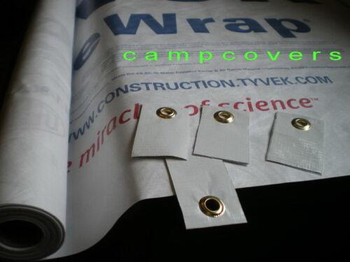 Dupont Tyvek Ground Sheet Tarp 14 X 10 ft Tent Footprint w// 12 Grommet Tabs