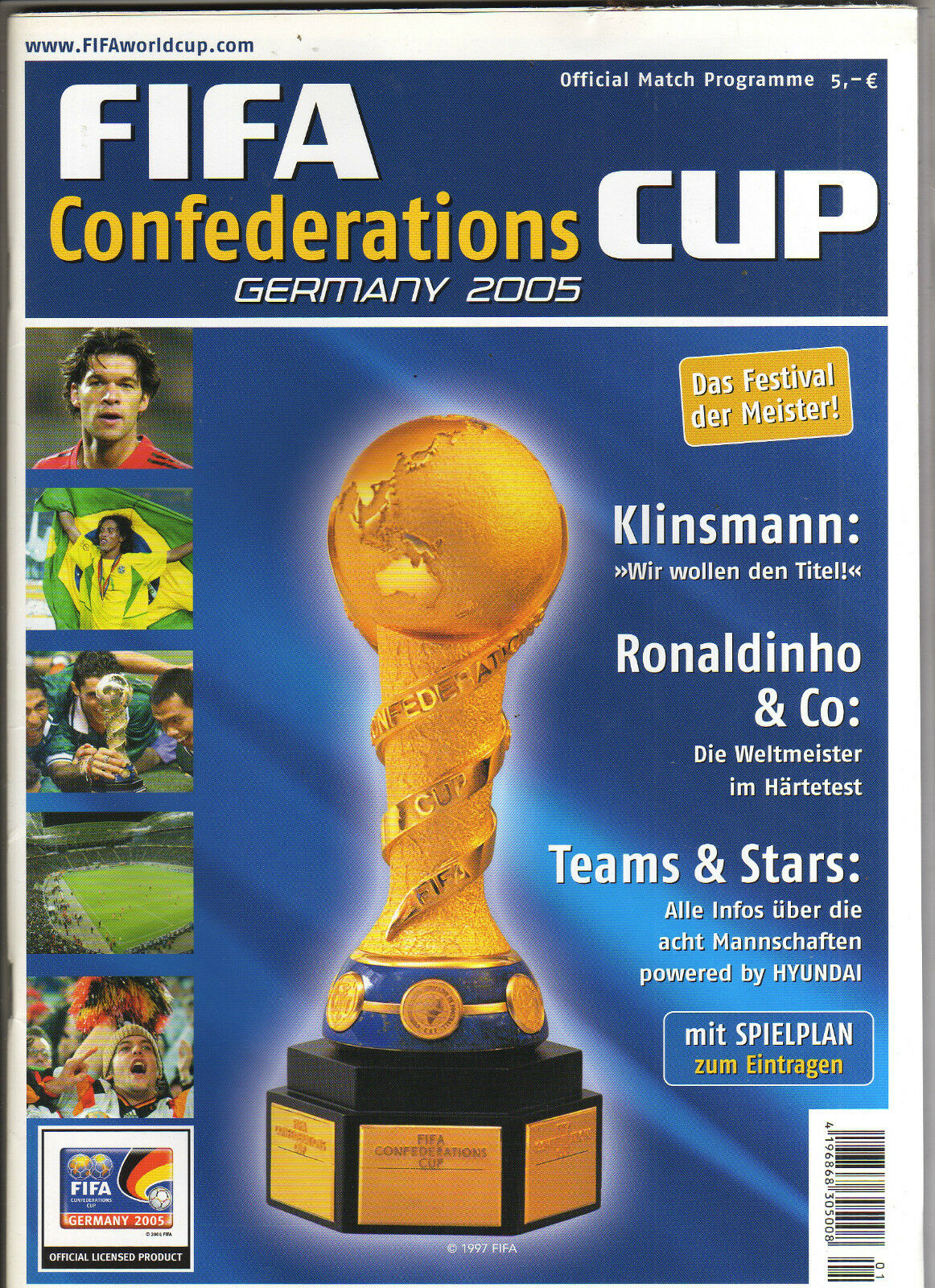 Orig.Komplett PRG   FIFA FIFA FIFA - Confederations Cup  DEUTSCHLAND 2005      SELTEN f13be3