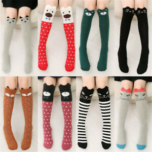 Baby-Kids-Toddlers-Girls-Knee-High-Socks-Tights-Leg-Warmer-Stockings-For-3-12YJB