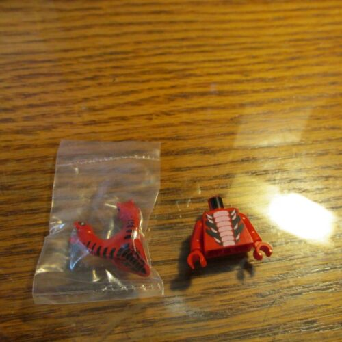 Lego Ninjago Fangtom Red Two Headed in  Torso 9445 serpentine