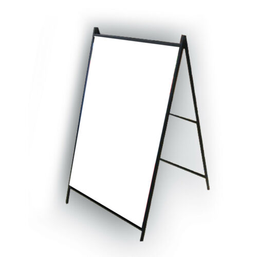 "Outdoor//Indoor Metal A Frame Heavy Duty 24/"" x 36/"" Sidewalk Sign Holder"