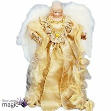 30cm Deluxe Tree Topper Top Gold Angel Fairy Christmas Feather Wings Decoration