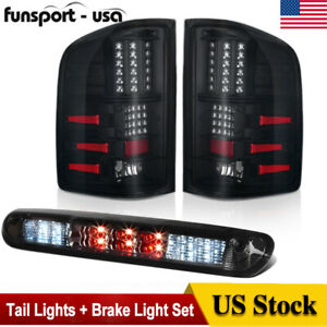Set of Pair Smoke LED Taillights for 2007-2013 Chevy Silverado 1500 2500 3500