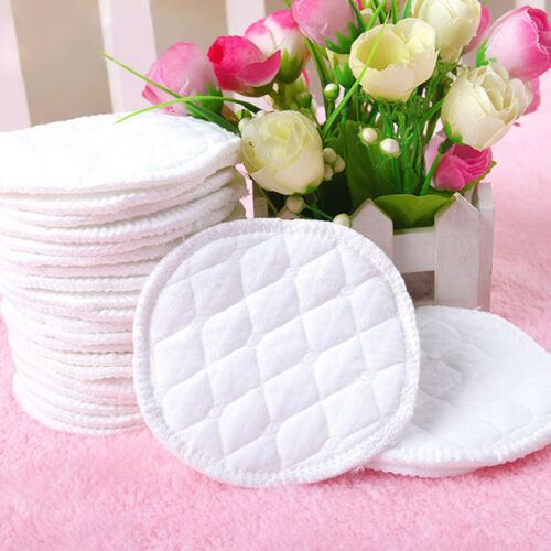 12pcs Reusable Nursing Breast Pads Washable Absorbent Baby Breastfeeding Soft