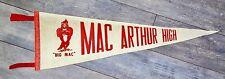 **Vintage Rare** Mac Arthur High School Irving Texas Felt Pennant Flag Cardinals