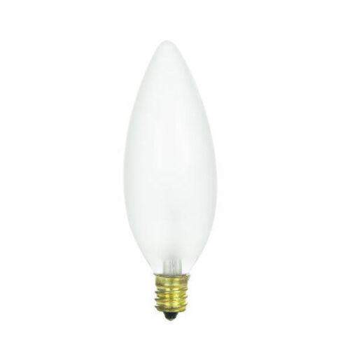 SUNLITE 15w 130v Candelabra Base Torpedo Frost Petite Chandelier bulbs