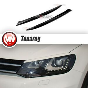 Front Eyelids Eyebrows Headlight Covers for VW Touareg 2-th generation 2010-2014
