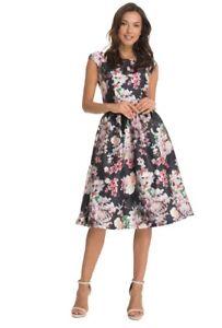 e036d5812bd8b9 CHI CHI CURVE SHELBY AVIA Floral Print Occasion Dress 24 Black ...