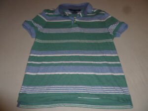 f601fc7e TOMMY HILFIGER STRIPED POLO SHIRT BLUE WHITE MENS GREEN SIZE MEDIUM ...