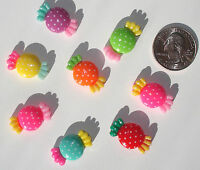 Wrapped Candy Resin Flatbacks Hair Bow Embellishments Scrapbooking Craft Glue On