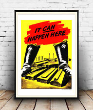 Reproduction WW2 public information It can happen here Wall art. poster