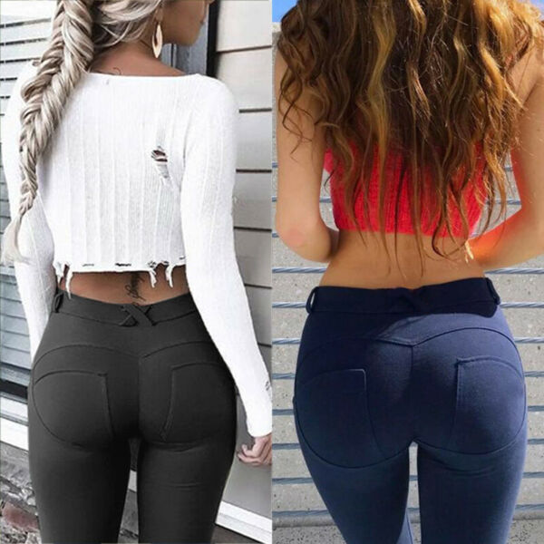 Sexy Damen Leggings Push Up Sport Yoga Gym Fitness Jogginghose Leggins NM