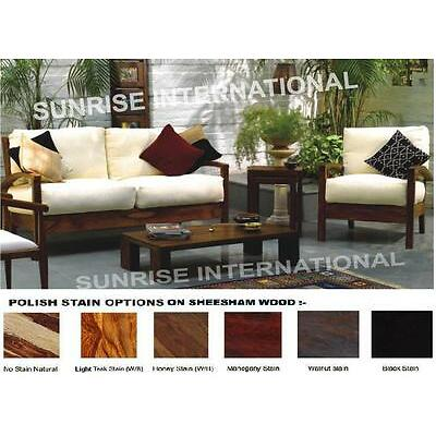 Living Room Furniture   Artistic Wooden Sofa Set 2 + 1 + 1 + Center Table