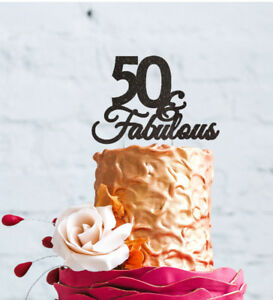 50th Birthday Cake Topper Fifty 50 Fabulous Cake Topper
