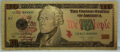"2009 $50 US Federal Reserve Novelty 24K Gold Foil Plated Note Bill 6/"" LG330"