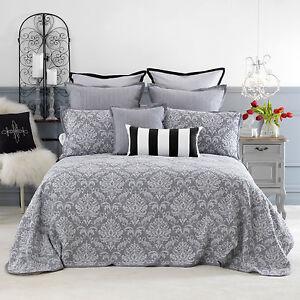 Bianca-Fleur-Grey-Bedspread-Set-King-Queen-Double-King-Single-Single-Size