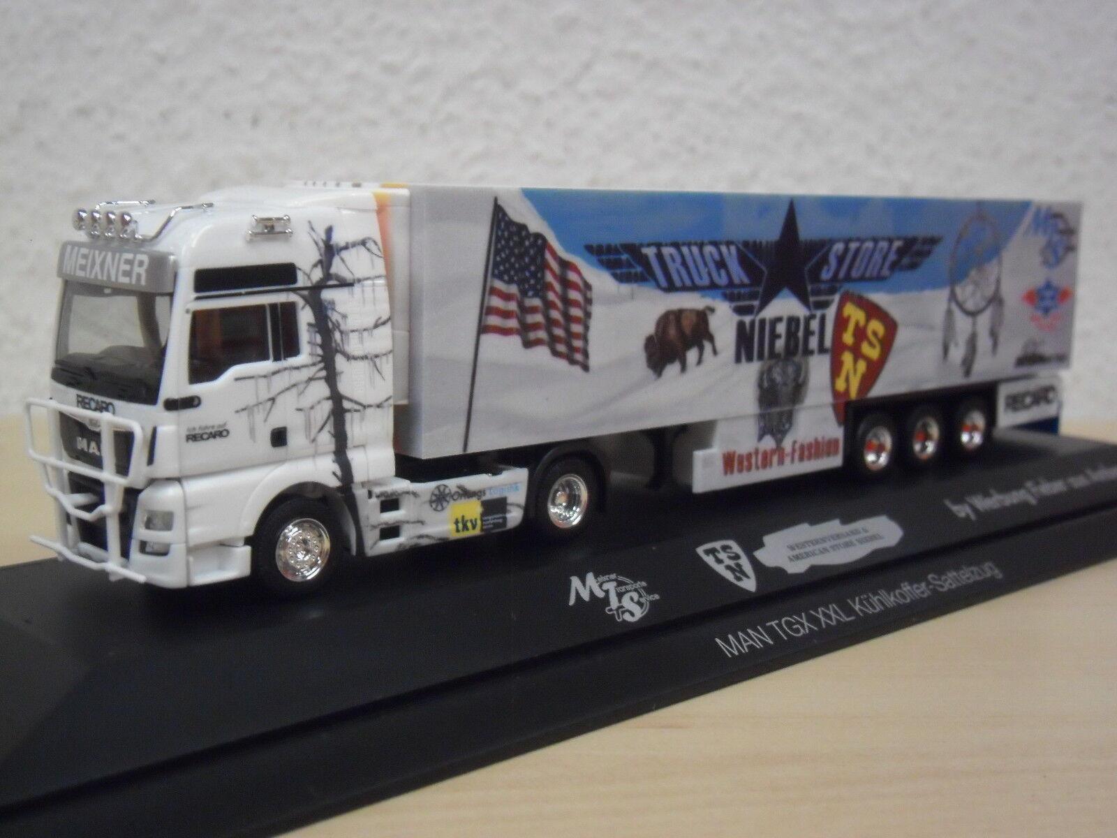 HERPA-MAN TGX XXL kükosz  MEIXNER camion Store Niebel  PC-modèle 121781 - 1 87