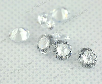 500PCS Size 0.8~12MM AAAAA Round Loose CZ Stone White Cubic Zirconia Gems