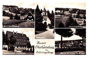 Kurort Oberbärenburg im Osterzgeb. ,DDR, Ansichtskarte, 1957 gelaufen - Schwerin, Deutschland - Kurort Oberbärenburg im Osterzgeb. ,DDR, Ansichtskarte, 1957 gelaufen - Schwerin, Deutschland