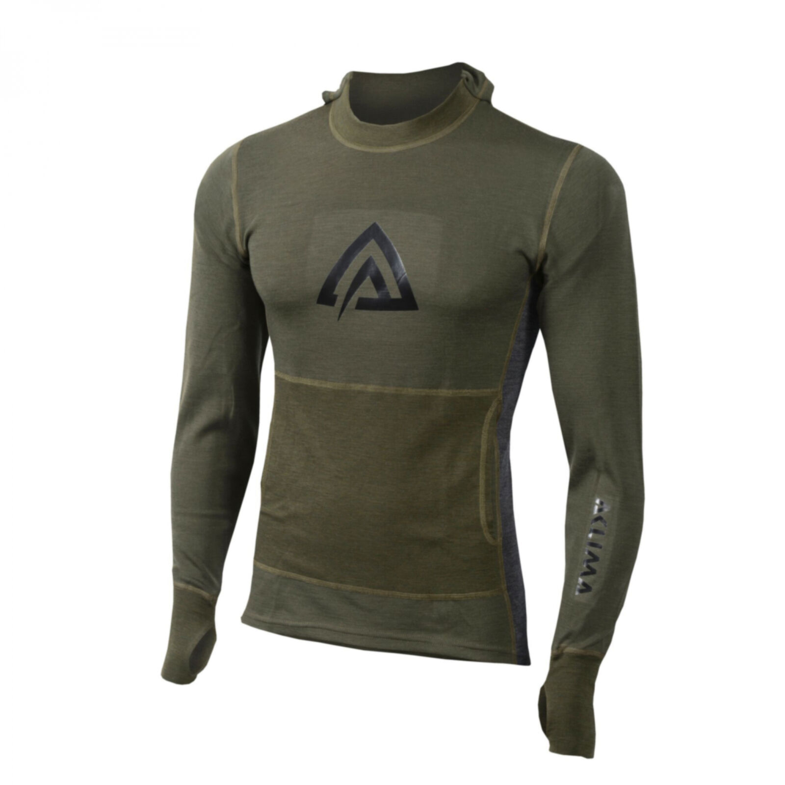 Aclima Warmwool Hoodsweater MAN olive night marengo  | Authentische Garantie