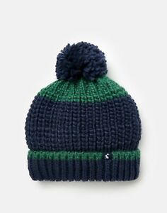 Joules-Boys-213153-Bobble-Hat-Green-And-Navy