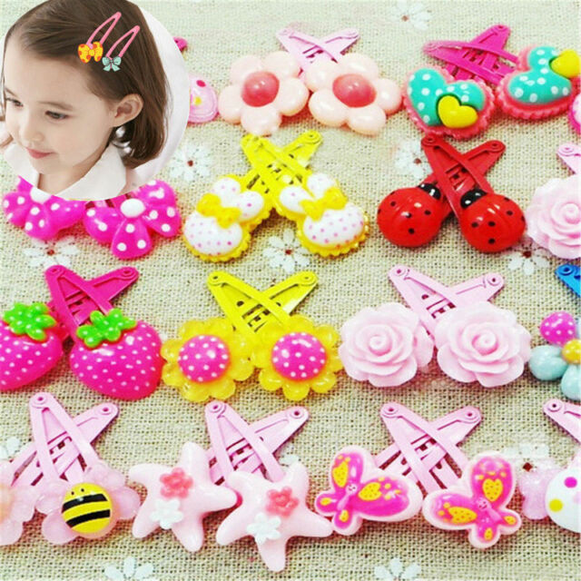 20pcs Mixed Kids Styles Baby Girls HairPin Hair Clips Toddlers Cartoon Jewelry