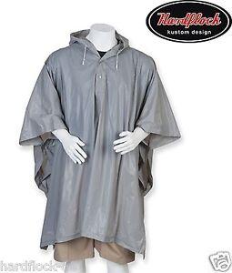 Pluie poncho gris pluie veste Cosy pluie protection imperméable Armée pêcher  </span>
