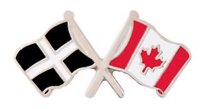 Canada Flag /& Cornwall St Piran/'s Flag Friendship Courtesy Pin Badge