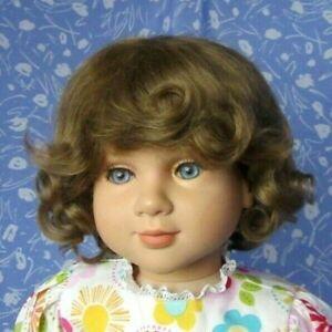Kemper-ASHLEY-Full-Cap-Lt-Brown-Doll-Wig-Size-14-15-100-MOHAIR-Curls