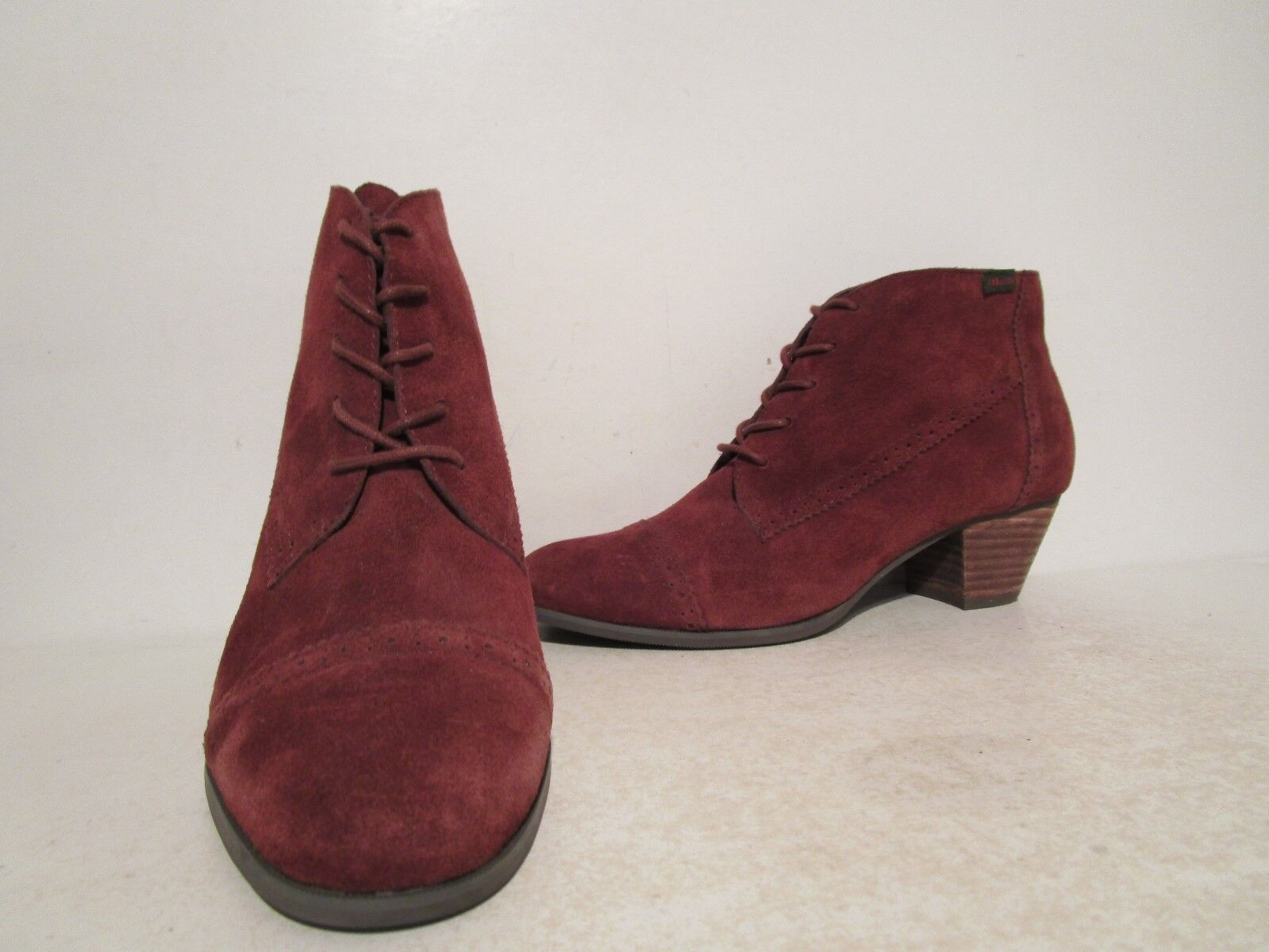 Bass Womens Porter Vintage Sleek Lace Up Casual Ankle Booties Brownstone Size 9