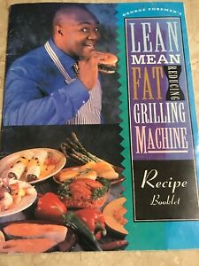 George-Foreman-s-lean-mean-fat-reducing-grilling-machine-Recipe-Booklet-Used