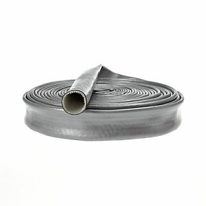 Heat-Fire-Flame-Thermo-Sleeve-Shield-For-Fuel-Oil-Hose-20mm-ID-SILVER-1M