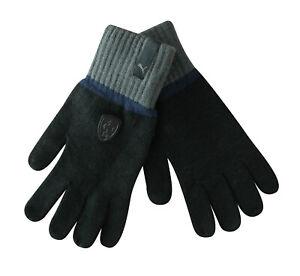 Details zu Puma Scuderia Ferrari Ls Strick Unisex Handschuhe Black Herren Winter 041046 01